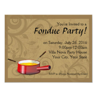 Fondue Party Invitations - Cheese