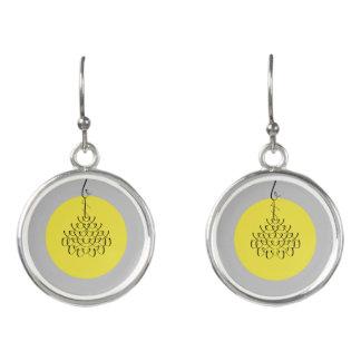 font chandelier earrings