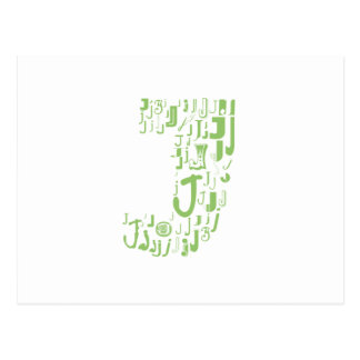Font Fashion J Postcard