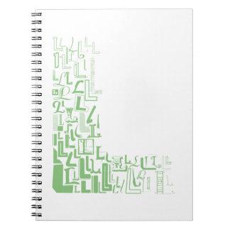 Font Fashion L Spiral Note Book