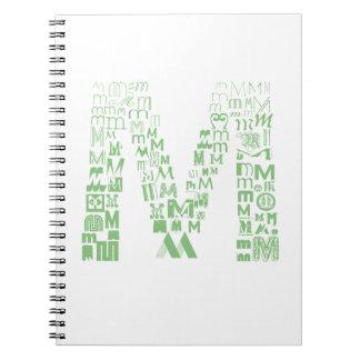 Font Fashion M Spiral Note Book