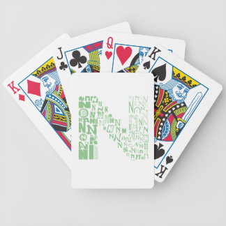 Font Fashion N Bicycle Playing Cards