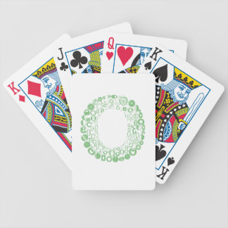 Font Fashion O Bicycle Playing Cards