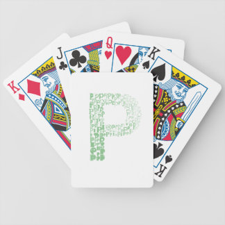 Font Fashion P Bicycle Playing Cards