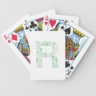 Font Fashion R Bicycle Playing Cards