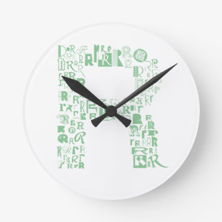 Font Fashion R Round Clock