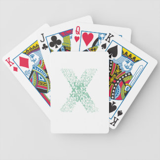 Font Fashion X Bicycle Playing Cards