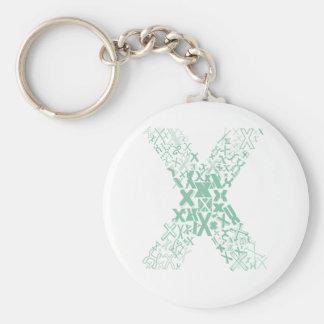 Font Fashion X Key Ring