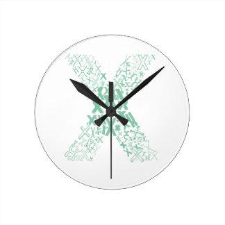 Font Fashion X Round Clock