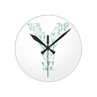 Font Fashion Y Round Clock