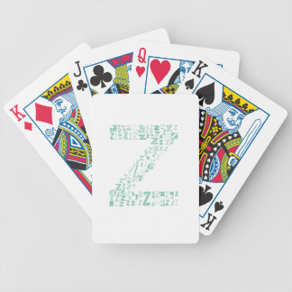 Font Fashion Z Bicycle Playing Cards