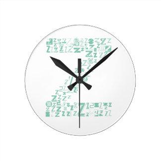 Font Fashion Z Round Clock