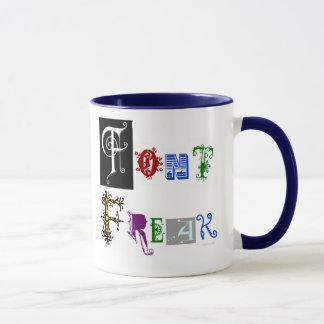 Font Freak Typography Designer Saying Mug