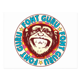 Font Guru Monkey Postcard