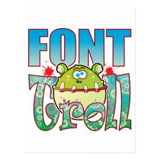 Font Troll Postcard