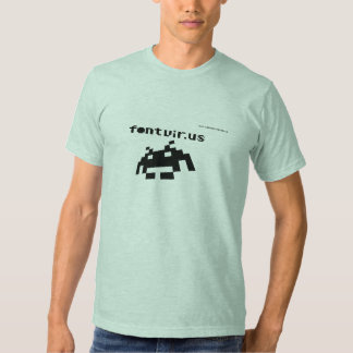Font Virus (Black Design) Tshirts