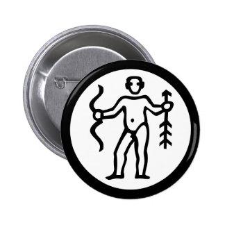 Font Zodiac: SAGITTARIUS + your Colors & Ideas 6 Cm Round Badge