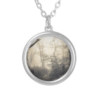 Fontainebleau Forest Silver Plated Necklace