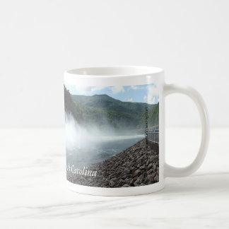 Fontana Dam, North Carolina spilling water mug