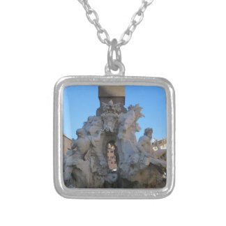 Fontana dei Quattro Fiumi Silver Plated Necklace