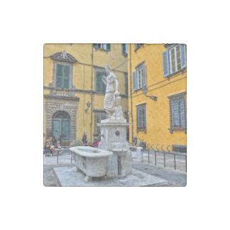 Fontana della Pupporona, Lucca, Italy Stone Magnet