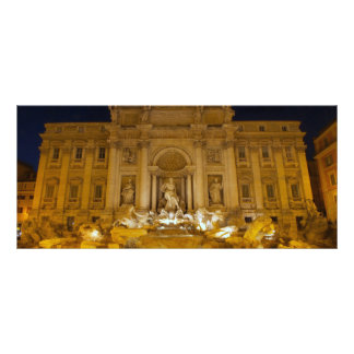 Fontana di Trevi at night,Rome Rack Cards