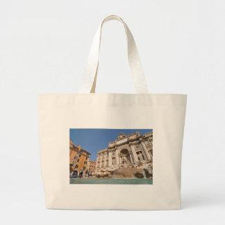 Fontana di Trevi in Rome, Italy Large Tote Bag