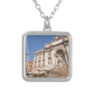 Fontana di Trevi in Rome, Italy Silver Plated Necklace
