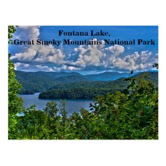Fontana Lake, Great Smoky Mountains Postcard