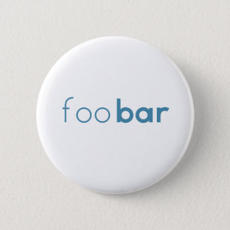 Foo Bar Minimalist Design 6 Cm Round Badge
