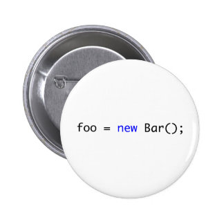 foo = new Bar(); 6 Cm Round Badge