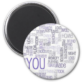 Food 6 Thought 6 Cm Round Magnet