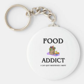 Food Addict Basic Round Button Key Ring