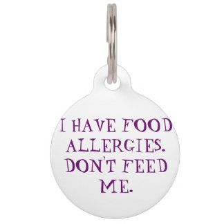 Food Allergies Medical Alert Tag for Dogs Pet Tag