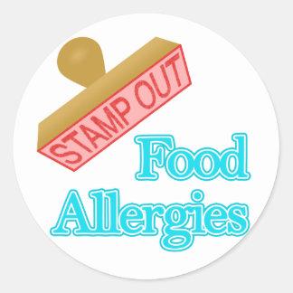 Food Allergies Round Sticker