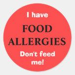 FOOD ALLERGIES sticker