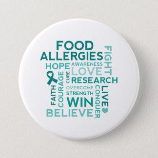 Food Allergies Teal Ribbon 7.5 Cm Round Badge