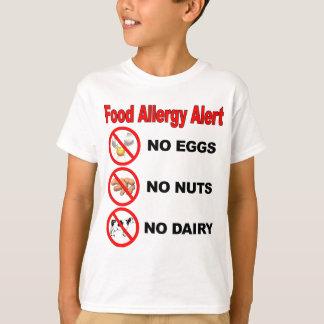 Food Allergy Alert - Back Logo Tshirts