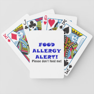 Food Allergy Alert Please Dont Feed Me Bicycle Playing Cards