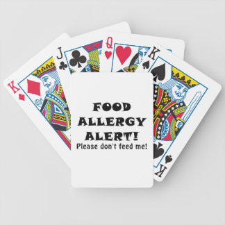 Food Allergy Alert Please Dont Feed Me Poker Deck