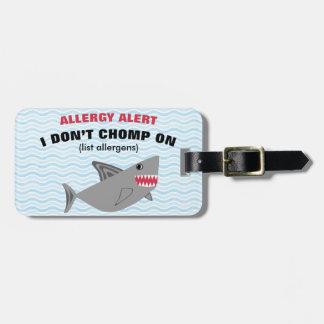 Food Allergy Alert Shark Tag for Medical Kit