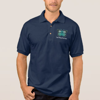 Food Allergy Awareness Butterfly Polo Shirt