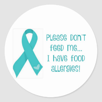 "Food Allergy Sticker ""Please Don't Feed Me"""