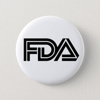 Food and Drug Administration 6 Cm Round Badge
