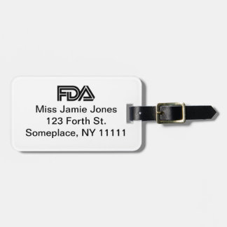 Food and Drug Administration Baggage Tag