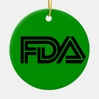 Food and Drug Administration Ceramic Ornament