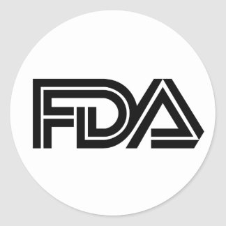 Food and Drug Administration Classic Round Sticker