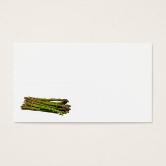 food asparagus business card