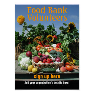 Food bank recruiting poster