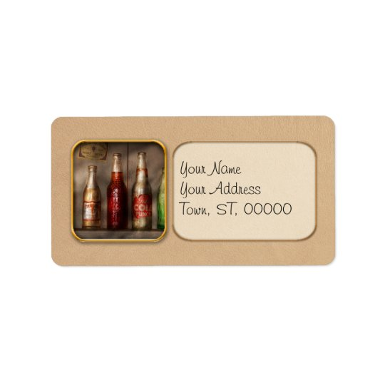Food - Beverage - Favourite soda Address Label